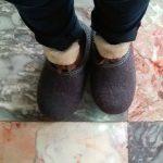 Filz Pantoffeln für den Rundgang