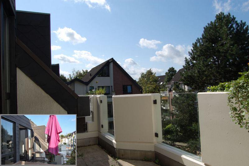 Balkon am Wohnraum - Sahnestück in Grafenberg, Galerie- Maisonette-Wohnung mit Stellplatz.